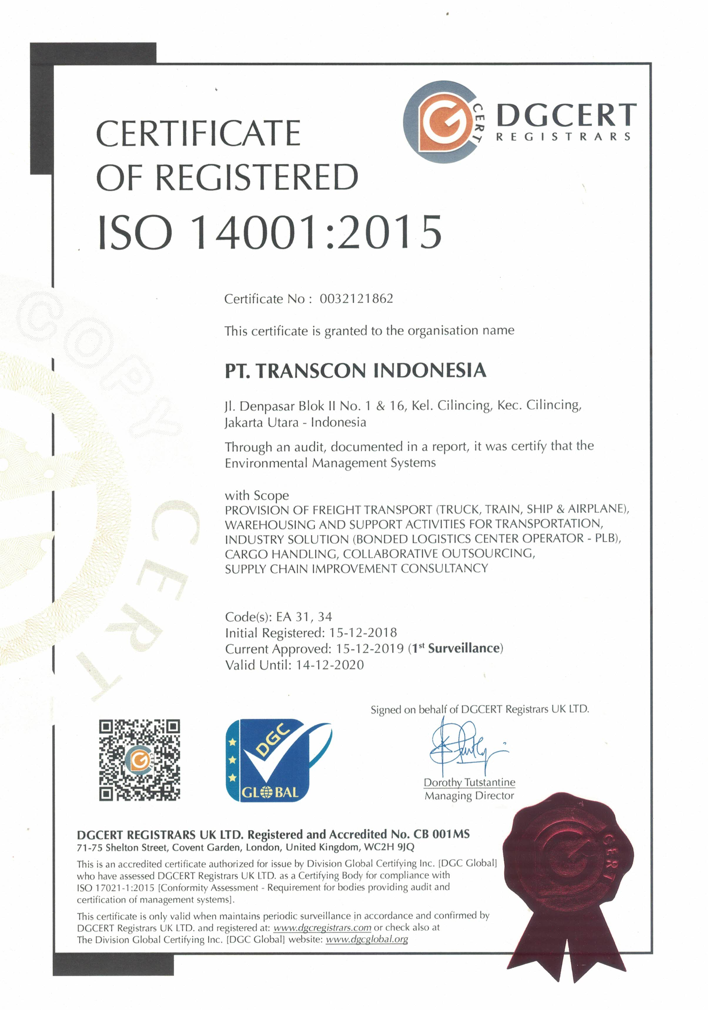 Sertifikasi ISO 14001:2015
